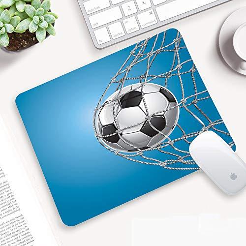 Gaming Mauspad,Fußball, Fußballtor in der Netzunterhaltung, die für den Gewinn ein,Abwischbar Matte Multifunktionales Office rutschfeste Gaming Matte für Computer, PC und Professionelle Gamer320x250mm