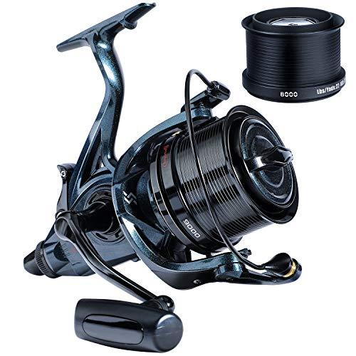 Sougayilang Spinning Reel,Ultra Smooth Powerful Fishing Reel 13+1 Metal Body Surf Fishing Reels for Catfish Walleyes-9000