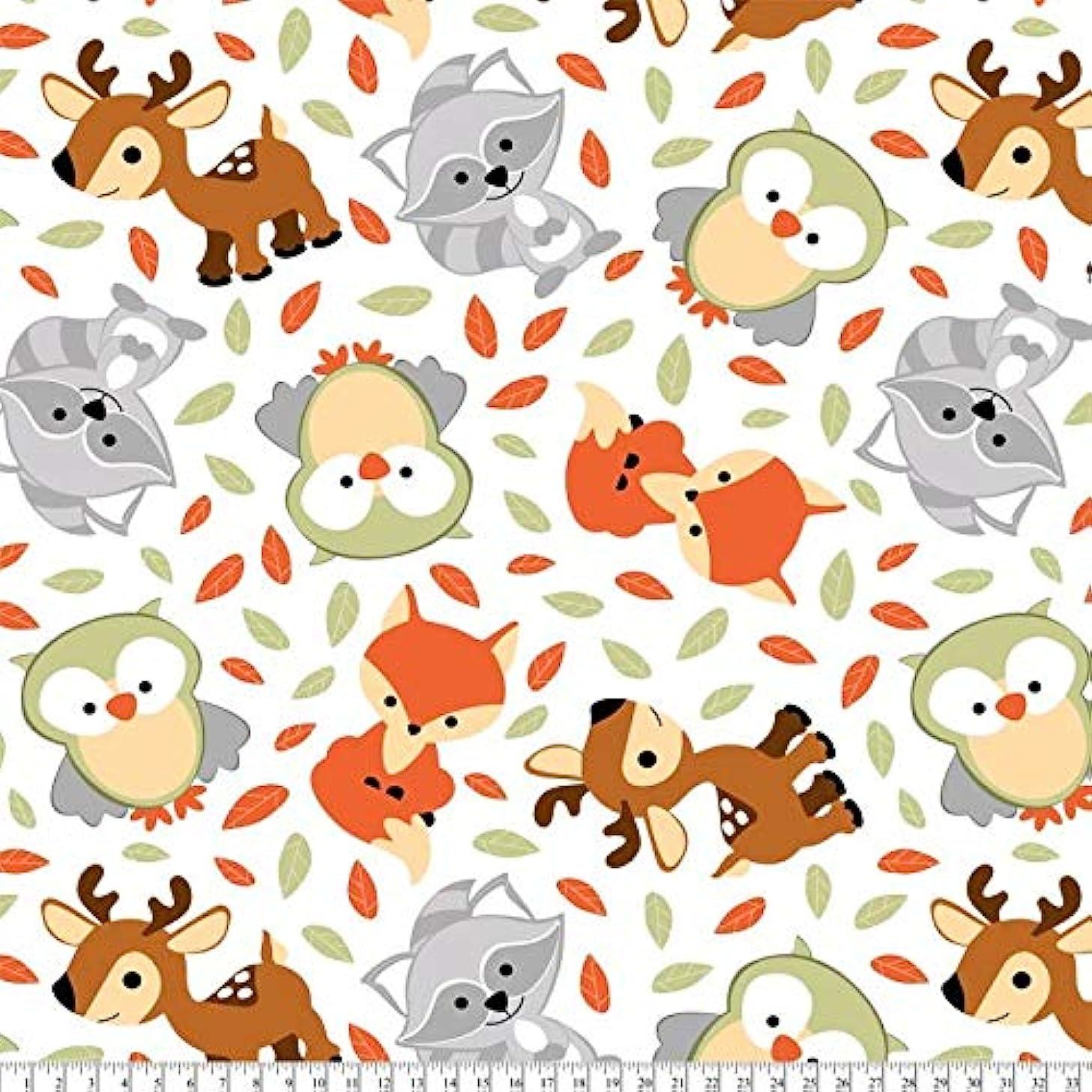 Woodland Friends Fleece Fabric by David Textiles - 2 Yards