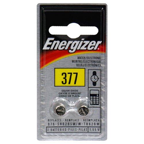 Energizer Watch/Electronic Batteries, 1.55 Volts, 377, 2 Batteries