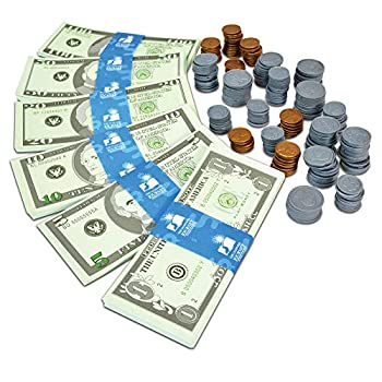 The Learning Journey Kids Bank Play Money Set - Play Money for Kids - Over $5000 in Realistic Play Money to Build Kids Counting Skills - Ages 5 and Up - Award Winning Toys