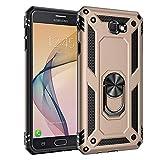 BestST Funda para Samsung Galaxy J7 Prime/On7 2016, con Anillo Soporte, Antigolpes Rígida Robusta Carcasa Resistente al Impacto Militar Duradera Blindada Fuerte de Seguridad con HD Protector Pantalla