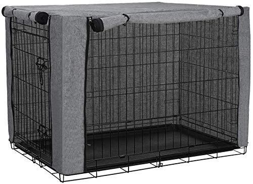 chengsan Funda para caja de perro, duradera y resistente al viento para mascotas cubierta para caja de alambre, protección interior y exterior (48 pulgadas)