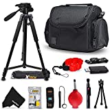 Accessories Kit Samsung NX500, NX1, NX3000, WB2200F, WB1100F, NX30, NX, NX2000, NX1100, NX300, NX300M, EX2F Digital Cameras w/Case, Tripod Cleaning Tools and More