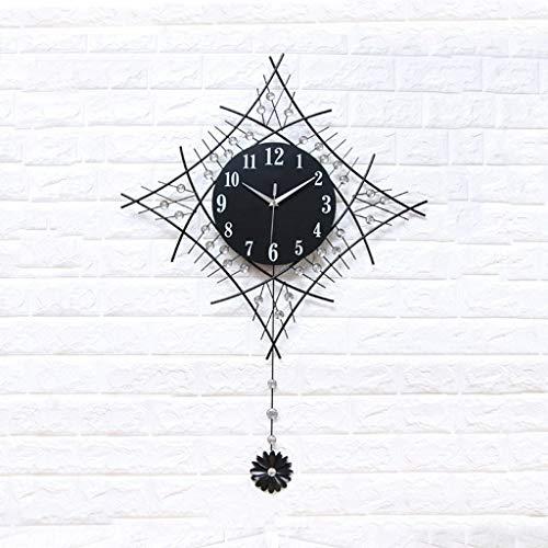 SMEJS Relojes, Reloj de Pared del Reloj de Pared silencioso de Barrido, Cuarzo, Esfera de Metal Moderno de los colocados Marco Robusto de Metal