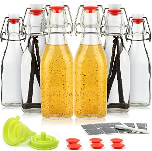 WILLDAN Set of 6 8 5oz Swing Top Glass Bottles Flip Top Brewing Bottles For Kombucha Kefir Vanilla product image