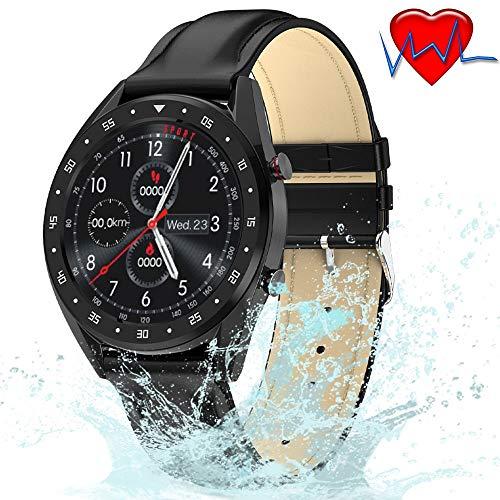 ZLI Smartwatch Impermeabile IP68 con Cardiofrequenzimetro/Pressione Sanguigna/Ossigeno nel Sangue/Monitor ECG, Display IPS HD da 1,3 Pollici per Donne, Uomini E Anziani