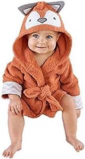 mainaisi bebé toallas de albornoz con capucha de algodón Cartoon Animal Wrap para bebé 0–3años Little Fox Talla:0-3Years