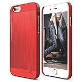 iPhone6s/iPhone6 アルミケース elago S6 OUTFIT MATRIX アルミ × ポリカーボネイト ヘアライン バイカラー 薄型 ハードケース for Apple iPhone 6s/6 エクストリームレッド×エクストリームレッド