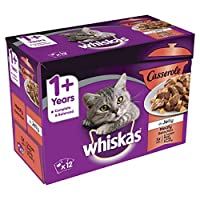 100 Percent complete and balanced meal with no artificial flavours, colours or preservatives Whiskas Casserole cat food pouches contain nutritious and tender, succulent meaty chunks to give your cat the meals they love Casserole cat food with balance...