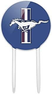 GRAPHICS & MORE Acrylic Ford Mustang Logo Cake Topper Party Decoration for Wedding Anniversary Birthday Graduation