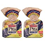 2 Pack Value: Toufayan Bakeries Low Carb Pita Bread, 12 Loaves Total, Includes Low Carb Recipe...