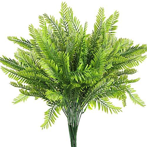 6Pcs Artificial Boston Fern Plants Greenery UV Resistant Fake Plants Greenery...