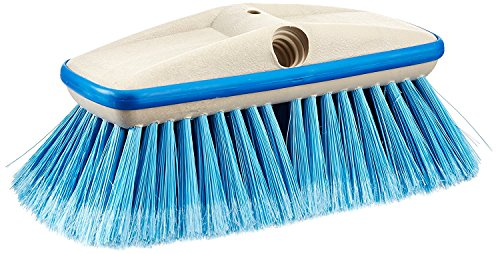 """Star brite Premium Medium Wash 8"""" Brush Head W/Bumper - Dual Connections Fit Either Standard 3/4"""" Threaded Poles or Extend-A-Brush Handles"""