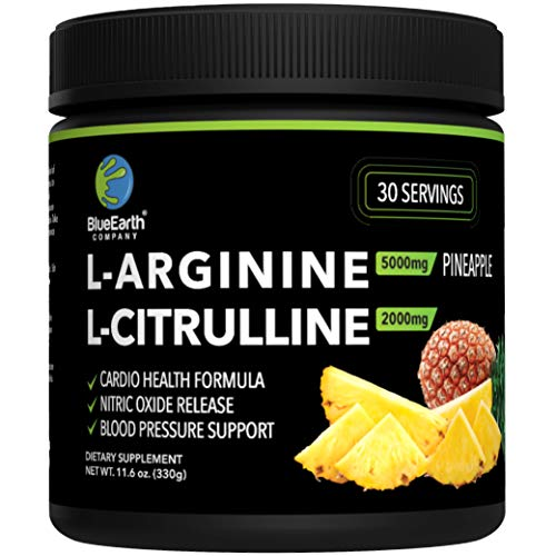 L-Arginine 5000mg + L-Citrulline 2000mg Complex Powder Supplement -...