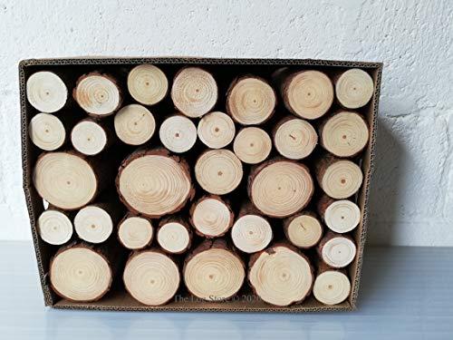 Decorative Round Logs, Display, Natural