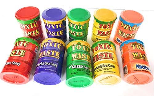 10 Toxic Waste Mix, 10 Packungen (10 Dosen mit verschiedenen Geschmacksrichtungen)