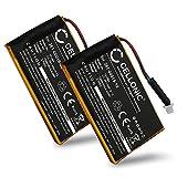 CELLONIC® 2X Batería de Repuesto 361-00019-12 Compatible con Garmin Edge 605 / Edge 705, 1250mAh Accu GPS Pila sustitución Battery