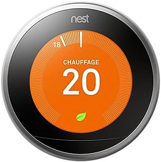 Nest Learning Thermostat 3rd gen. - Termostato inteligente (Acero inoxidable, Analógico, 53 x 53 mm, lithium-ion) Edición ...