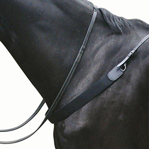 Kincade - Pechopetral elástico de cuero II para salto de obstáculos (Full) (Negro)