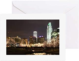 CafePress Omaha City Lights Greeting Cards Greeting Card (20-pack), Note Card with Blank Inside, Birthday Card Glossy