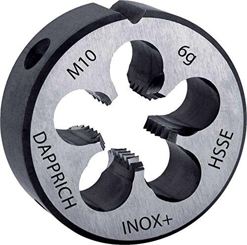 Hi-Tech Schneideisen HSS-E Co5 INOX Plus für Edelstahl, DIN EN 22568, Metrisches ISO-Feingewinde DIN 13, mit beidseitigem Schälanschnitt, rechtsschneidend: M 8 x 1,00 6g Mikro-Geometrie