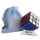 OJIN MoYu WEILONG GTS 2M Weilong GTS 2 M V2 Mejorado Cubo de Velocidad 3x3 Smooth Magic Cube Puzzle Rompecabezas Juguetes con una Bolsa de Cubo y un trípode de Cubo (Negro)