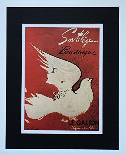 aufgezogen und gerahmt Vintage Print Poster Sortilege Parfüm–50,8x 40,6cm '– Werbung C Maurel