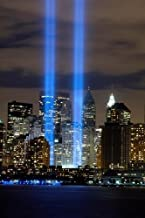 World Trade Center Art Poster Twin Towers Tribute Lights Wtc 24x36