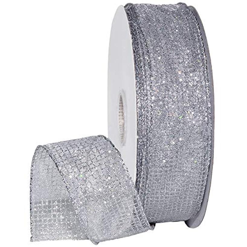 Morex Ribbon 7435 Cosmic Ribbon, 1-1/2 Inch, 50-Yard, Silver