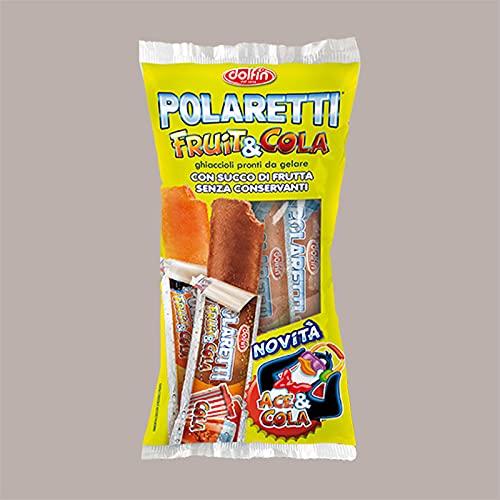 Lucgel Srl 5x10 pz POLARETTI Ghiaccioli alla Frutta con Sorpresa FRUIT&COLA 150 ml DOLFIN