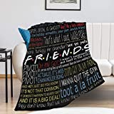 Friends_Tv Show Blanket Throw Flannel Blankets Lightweight Super Soft Cozy for Bed Blanket Microfiber Throws Blankets 50x60 inch