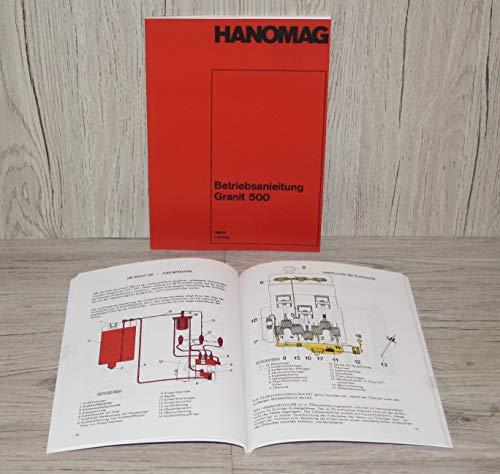HANOMAG Betriebsanleitung Bedienungsanleitung Traktor Granit 500