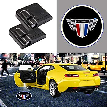 2 Pieces Wireless Car Door Logo Light for Camaro LED Car Door Courtesy Welcome Projector Light Ghost Shadow Lights Compatible with Camaro All Models