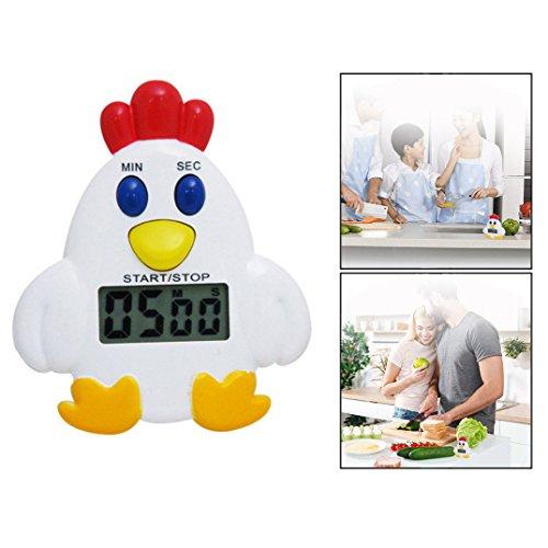 OFKPO Digitale Timer Elettronico da Cucina - 100 Minuti(Forma di Pulcino)