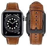 MroTech Armband kompatibel mit iWatch Lederarmband 40mm 38mm Armband Leder Ersatzarmband für iWatch...