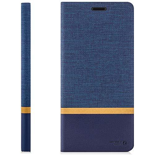 zanasta Tasche kompatibel mit Huawei Nova 2 Plus Hülle Flip Case Schutzhülle Handytasche mit Kartenfach Blau - 6
