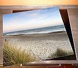 Herdabdeckplatte aus Glas, 1-teilig, 60x52cm, für Ceran- und Induktionsherde, Strandspaziergang im Urlaub an der Ostsee - 2