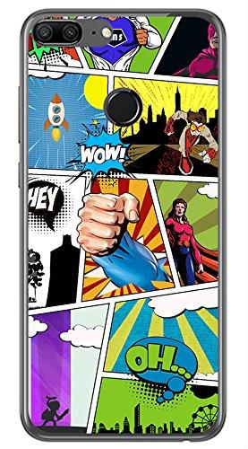 Tumundosmartphone Funda Gel TPU para Huawei Honor 9 Lite diseño Comic Dibujos
