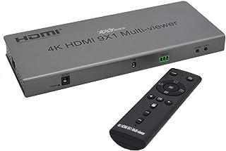XOLORspace QV901 4K HDMI 9x1マルチビューア9 HDMI入力1 HDMI出力9画面分割HDMI分割 表示 HDMI 拡大、12モードのビデオセグメンテーションシームレスな切り替え