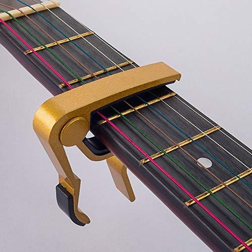 BianchiPamela Compact Size Aluminum Alloy Guitar Tuner Clamp Professional Key Trigger Capo