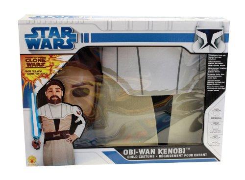 Rubie's 3 41084 (Grösse M) - The Clone Wars - Obi-Wan Kenobi vestuario infantil