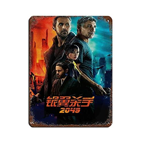 Póster retro de película Blade Runner 2049, cartel retro de metal de estaño, arte elegante, pintura de hierro, barra de personas, cueva, café, familia, garaje, decoración de pared de 30 x 40 cm