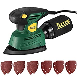 🔔【High Efficiency】 The Electric Sander runs at 14,000 orbits per minute with 1.1amps of power; 1.5 mm diameter high eccentric orbit creates larger sanding area, which makes sure users finish their work efficiently. 🔔【12Pcs Sandpaper】 12pcs sandpaper ...
