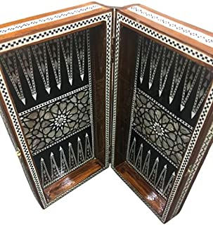 Backgammon board inlaid Mother of Pearl/Backgammon Egyptian Chess