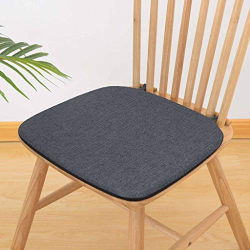 BLSTY Cotton Linen Cushion, Soft Comfort Non Slip Seat Cushion with Zipper Detachable Chair Pads for Restaurant Office-P