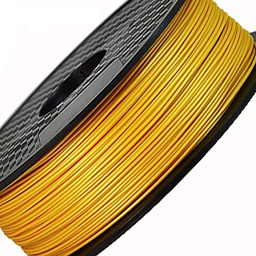 HUANRUOBAIHUO 0,25 kg 3D-printer Filament Accessoires Supplies PLA/ABS 1.75mm Print Materiaal Diverse soorten kleuren kiezen printer benodigdheden (Color : Gold)