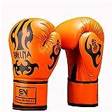 LUCHONG Guantes de boxeo para adultos, 10/12 onzas, entrenamiento de Sparring...