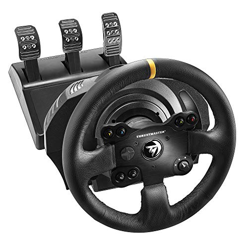 Thrustmaster TX Racing Wheel Leather Edition, Racing Wheel and Pedals, Xbox Series X|S, Force Feedback, Brushless Motor, Dual-Belt System, Magnetic Technology, Interchangeable Wheel