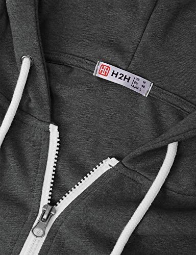 H2H-Mens-Casual-Zip-up-Hoodie-Jacket-Double-Cotton-Lightweight-Hooded